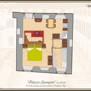 Gandino – Monolocale in Vendita (Palazzo Spampatti)