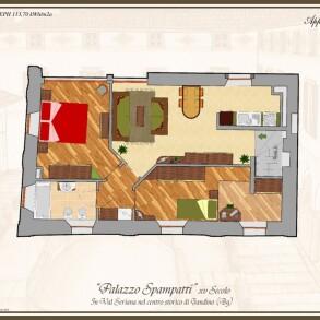 Appartamento Trilocale a Gandino